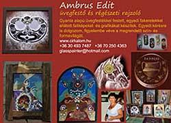 Ambrus Edit üvegfestő és régészeti rajzoló